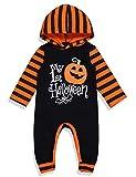 Ttkgyoe Pelele con capucha para Halloween para bebés, unisex, «Mein erster Halloween» Negro 0-3 Meses