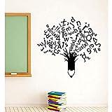 Calcomanía De Pared Escolar Etiqueta Educativa Vinilo Academia De Aprendizaje De Arte Decoración Aula 59X57 Cm