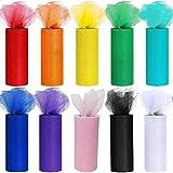 10 DIY tul rollos tul cinta tul decoración tejido mesa cinta Déco cinta tul para boda Party Banquet falda ropa decoración Artesanía