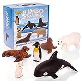 Learning Minds Set de 6 Figuras de Animales de Jumbo Polar