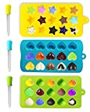 Joyoldelf moldes del caramelo & cubo de hielo Bandejas - Chocolate de silicona molde -Divertido juguete niños Set - usar para pasteles, chocolate, helados, tartas, jabones