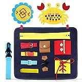 aovowog Busy Board para Niños,Juguetes de Bebé Habilidades de Vida básicas Tablero,Juguetes Sensoriales Montessori para Bebés,Juguete de Educación Temprana Juguete de Aprendizaje Regalo para Niños