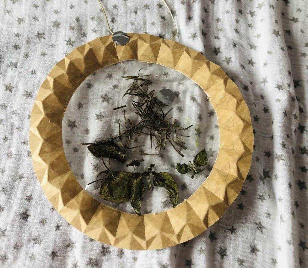 Manualidad hojas secas